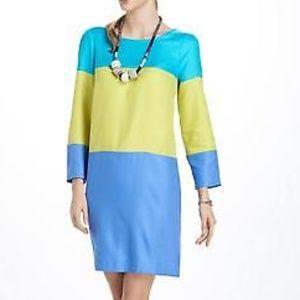 Anthropologie Maeve women 8 colorblock shiftdress